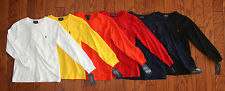 NWT Polo Ralph Lauren Long Sleeved Solid Classic Pony Tee Boys S 8 - L 14-16