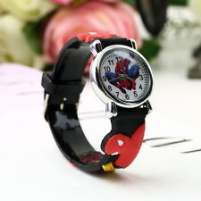 Spider Man Marvel Cartoon Child Boys Kids Analog Quartz Wrist Watch Rubber SC