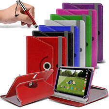 "360° Rotating Luxury PU Leather Spring Stand Case Cover+Pen Swivel - 7"" Tablets"