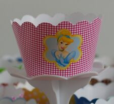 "12 GIRLS Party ""DISNEY'S CINDERELLA"" Cupcake Wrappers-WORLDWIDE FREE SHIPPING"