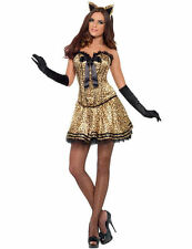 Ladies Sexy Female Cat Leopard Animal Halloween Fancy Dress Costume