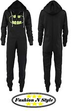 Children Kids Boys Girls Batman Hooded All In One Piece Onesie Jumpsuit
