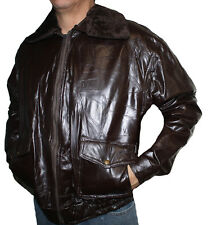 MEN'S LEATHER PATCH WORK LAMB BROWN BOMBER JACKET SPECIAL PRICE $32.99 S# 287334