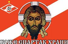 "Football Moscow fan's flag ""God, save Spartak"" in such Russian orthodox spirit"