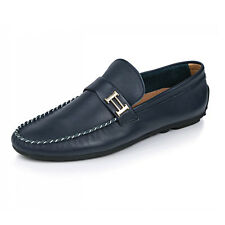 4 Color Genuine Leather Shoes Casual  Men's Flat Mens Loafers  Driving Shoes