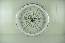 White color 50mm UD glossy alloy surface full carbon road bike wheelset OEM