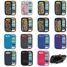 Waterproof Shockproof Dirt Proof Cover Case w/Belt Clip For Samsung Galaxy S3