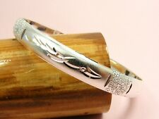 Ladies Girls STERLING SILVER SF 7MM Wide CUFF Bangle BRACELET ~Various Style~