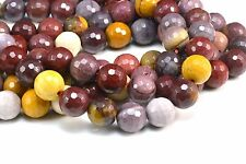 natural mookaite beads -  faceted round beads - 4mm to 12mm beads - 15 inch
