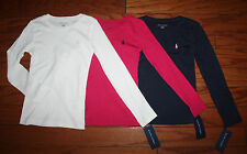 NWT Ralph Lauren Girls Solid Classic Pony Long Sleeved Tee Girls sizes 2T-4T