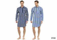 Herren Tom Franks Traditionell Gestreift Nachthemd Gebürstet Flanell Gr. M- XXL