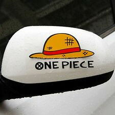ONE PIECE hat Rearview mirror Glass vehicle random body car stickers wall Decals