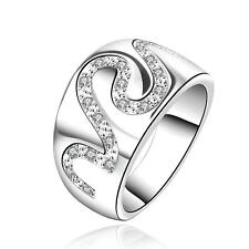 Wholesale women's beautiful 925 solid sterling silver Natural Crystal Ring R580