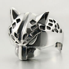 316L Stainless Steel Cool Leopard Mens Ring 4B031A