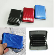 Pocket Business ID Credit Cards Wallet Holder Box Aluminum Metal Waterproof