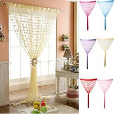Heart Line Tassel String Door Curtain Window Room Divider Curtain Valanc