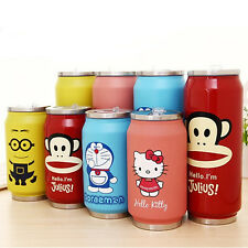 070665Kitty Cute Cans Lovely Stainless Steel Travel Water Coffee Mugs Cup Bottle