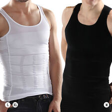 Mens Slimming Vest Body Shaper Compression Waist Tummy Control Underwear Shirt