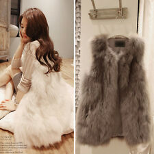 Special Ladies Faux Fur Shaggy Vest Gilet Sleeveless Coat Outerwear Hot Sales