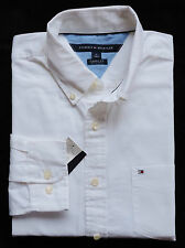 NWT Mens Tommy Hilfiger Classic Fit Long Sleeve Solid Shirt