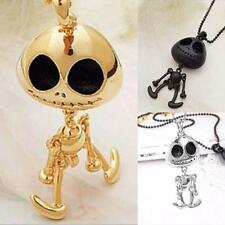 1pcs UFO ET Skull Robots Skeleton UFO Big Eye Chain Necklace Pendants DTEG