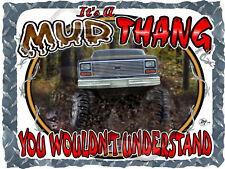 1980-1986 FORD TRUCK 4X4 F-150 MUD THANG BOGGING PRINTED T-SHIRT SMALL-4XL NEW