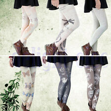 New Vintage Sexy Tattoo Socks Sheer Pantyhose Mock Stockings Tights DG