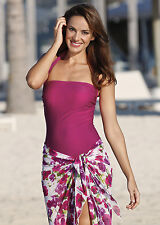 Nicola Jane Pocketed Mastectomy Halterneck Swimming Costume with Tummy Control