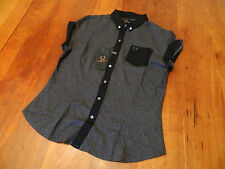 NEW GENUINE Fred Perry Womens Amy Winehouse Leopard Print Shirt