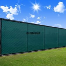 50' Fence Screen 90% Privacy Black Green Windscreen Fencing Mesh Garden