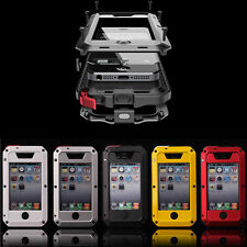 Waterproof Shockproof Aluminum Gorilla Glass Metal Case Cover For Apple iPhone *