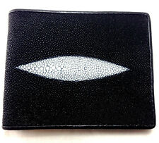NEW GENUINE STINGRAY LEATHER WALLET,BI-FOLD ,COIN PURSE ZIPPER,CARD HOLDER (OWZ)
