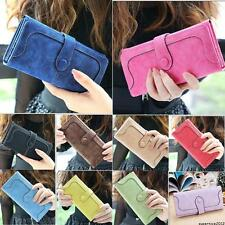 Women Fashion Leather Wallet Button Clutch Purse Lady Long Handbag Bag Holder
