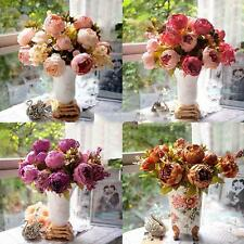 Valentine's Day Wedding Party Festival Artificial Peony Silk Flowers Bouquet