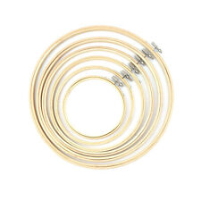 Handy Wooden Cross Stitch Machine Embroidery Hoop Ring Bamboo Sewing 13-30cm SC