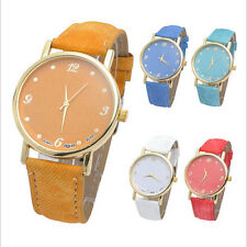 Women/Girl Unisex Denim Cloth Analog Quartz Strap Watches Sport Wrist Watch Gift