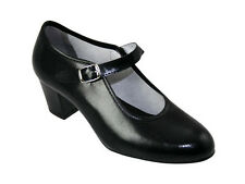 Spanish Flamenco Black Dance Shoes Made in Spain ALL SIZES