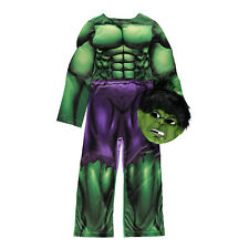 The Incredible Hulk Avengers fancy dress up BNWT 3-8yr Mask George Marvel New