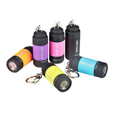 Pocket Colorful Mini USB LED Torch Lamp Light Keychain Rechargeable Flashlight