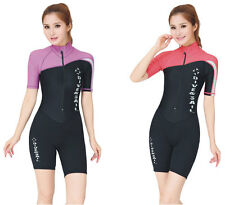 Woman Short Sleeve Rash Guards Diving Suit Snorkeling Surfing Swimming Jumpsuits