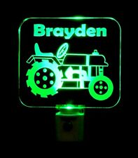 "Personalized Tractor LED Night Light - Kids Lamp - Dad 3/8"" Acrylc"