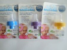 REFRESH A BABY CAP & NIPPLE FOR WATER BOTTLES - CHOOSE YOUR COLOR