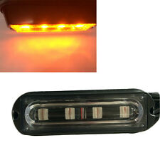 4 LED Amber White Light Emergency Light Bar Hazard Strobe Warning Car Truck New