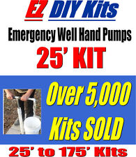 Water Well Hand Pump, Hand Pump For Water Well, 25 ft Kit For Sale.