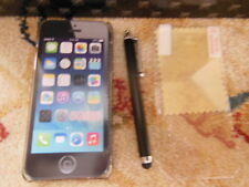 Iphone 5 5s Glitter snap case bundle black +  screen protector+ stylus pen