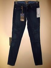 RARE Paige Skinny Equestrian Super-Stretch High Waist Jeans Dark Royal 24 XS 0