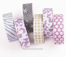 New 5rolls Glitter Sparkle Flake Vinyl Tape DIY Decor Washi Tapes ,Mixed Color