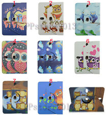 "360 Rotating Cute OWL Premium Leather Case Cover For Samsung iPad 9.7"" 10.1"" Tab"