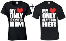 Couple T Shirt My Heart Only Beast for Him Her Valentine's Day Gift For Her Him