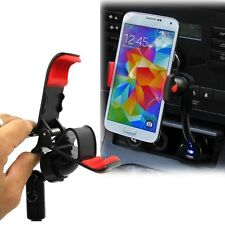 Universal Car Cigarette Lighter USB Charger Clip Mount Holder For Various Phones